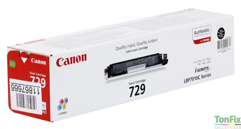 Инструкция заправка canon 729