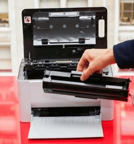 Когда нужно достать картридж из принтера