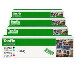 Купить комплект цветных картриджей HP CE310A, CE311A, CE312A, CE313A, (126A)