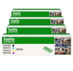 комплект цветных картриджей HP CE410A, CE411A, CE412A, CE413A, (305A)